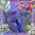 Mixed Media Peacock Art - Gipsy Rondo by Miriam  Schulman
