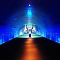 Modern Blue Tunnel by Prayut Chaisook