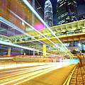 Modern City At Night by Leung Cho Pan