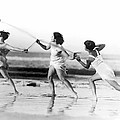 Modern Dance On The Beach by Underwood Archives