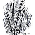Modern Drawing 112 by Lynne Taetzsch