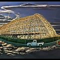 Moffett Field Hangar One And Truck by Blake Richards