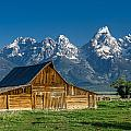 Molton Barn And Grand Tetons by Greg Nyquist