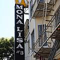 Mona Lisa Restaurant In North Beach San Francisco by Wingsdomain Art and Photography