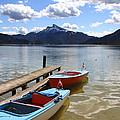 Mondsee Lake Boats by Lauri Novak