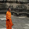 Monk At Ankor Wat by Bob Christopher