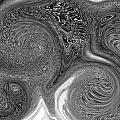 Mono Swirl Abstract by David Pyatt