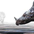 Monoclonius Dinosaur by Christian Darkin