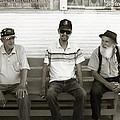 Montana Bench Boys Part II by Lorraine Devon Wilke