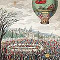 Montgolfier Balloon Le Flesselles by Photo Researchers