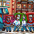 Montreal Bagels And Hockey by Carole Spandau