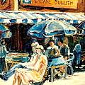Montreal Cafe City Scenes Prince Arthur And Duluth Street by Carole Spandau