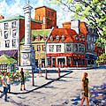 Montreal Street Urban Scene By Prankearts by Richard T Pranke
