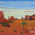 Monument Valley Lone Tree by Don Monahan