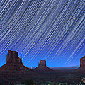 Monument Valley Star Trails 1 by Jane Rix