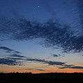 Moon And Clouds At Dusk by Kent Lorentzen