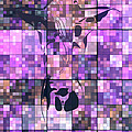Moon Bath Geometric Pink by Mayhem Mediums