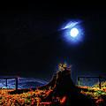 Moon Lite In Hdr by Dennis Sullivan