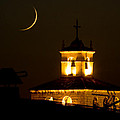 Moon On The Cathedral - Luna Sobre La Catedral by Felix Mazo