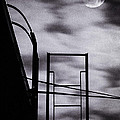 Moon Over Brooklyn Rooftop by Gary Heller