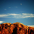 Moon Over Red Rocks Garden Of The Gods by Toni Hopper