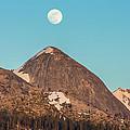 Moon Over Sierra Peak by Marc Crumpler