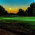 Moon Setting Over The Green by Everet Regal
