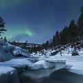 Moonlight And Aurora Over Tennevik by Arild Heitmann