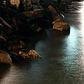 Moonlit Rocks by Kristin  Renbarger