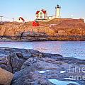 Moonrise At Nubble Light  by Susan Cole Kelly