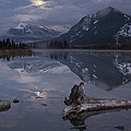 Moonrise Over Banff by Keith Kapple