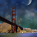 Moonrise Over The Golden Gate by Ellen Heaverlo
