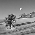 Moonset At Dawn by Simon Lupton