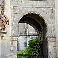 Moorish Arch Of The Giralda In Seville by Perry Van Munster