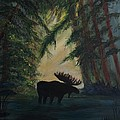 Moose Pond Hideout by Leslie Allen