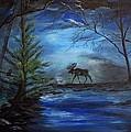 Moose Pond by Leslie Allen