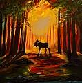 Moose Sunset by Leslie Allen
