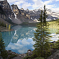 Moraine Lake In The Valley Of The Ten by Matthias Breiter