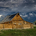 Mormon Barn Under Approaching Storm by Greg Nyquist