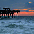 Morning At The Pier by Melessia  Todd