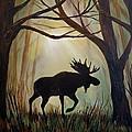 Morning Meandering Moose by Leslie Allen