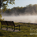Morning Mist Over The Hudson River by Jiayin Ma