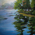 Morning Over Fowler Lake by Judith Reidy