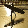 Morning Session Longboard Surfing Folly Beach Sc  by Dustin K Ryan