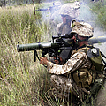 Mortarman Fires An At4 Anti-tank Weapon by Stocktrek Images