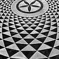 Mosaic Black And White Floor by Jeff Lowe