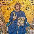 mosaic inside Hagia Sophia  by Luciano Mortula