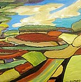 Mosaic Landscape by Mary ann Barker