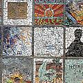 Mosaics Street At Birzeit by Munir Alawi