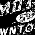 Motel Sign Black And White by Phyllis Denton
